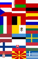 Россия, Белоруссия, Польша, Австрия, Чехия, Франция, Бельгия, Нидерланды, Германия, Италия, Ватикан, Литва, Латвия, Эстония, Швеция, Финляндия, Словакия, Венгрия, Сербия, Македония, Греция