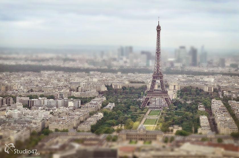 Вид на Эйфелеву башню с Монпарнас
