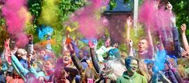 Фестиваль красок Холи в Борисоглебске