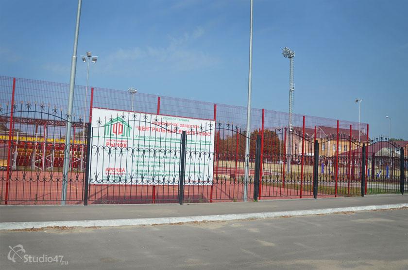 Баннер спонсора турнира по теннису