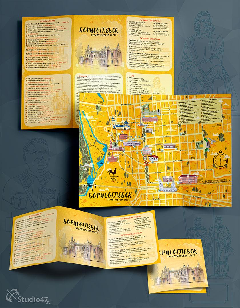 Туристическая карта с достопримечательностями