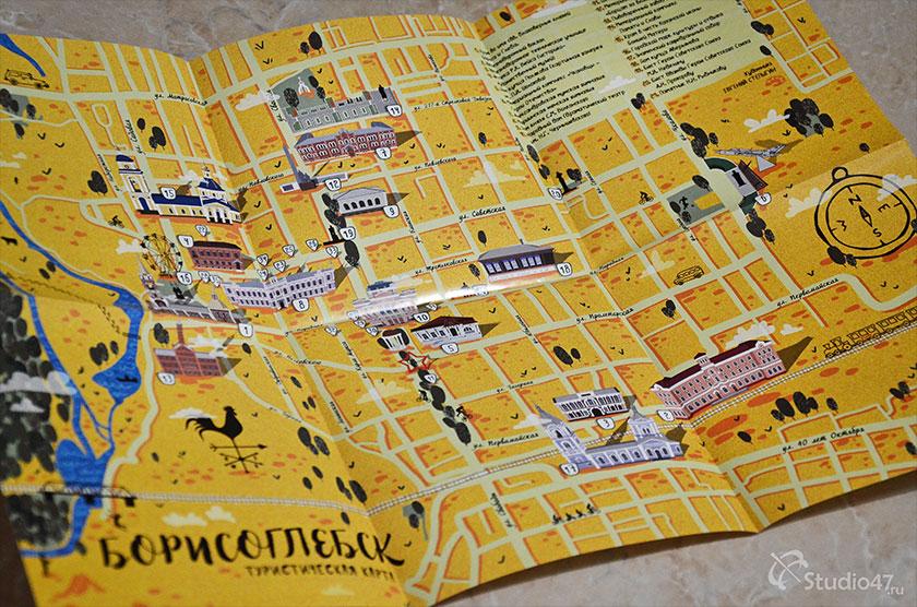 Карта Борисоглебска Воронежской области