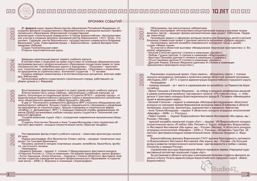 ВГАСУ (БФ) - Воронежский Государственный Архитектурно-Строительный Университет в городе Борисоглебске