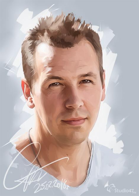 Портрет Сергея Жукова по фото