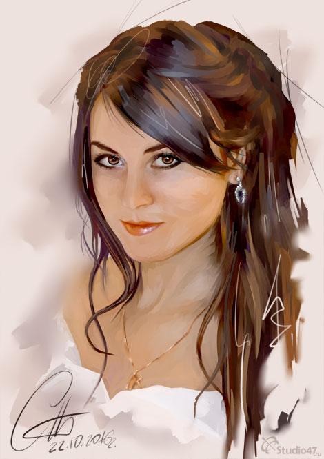 Портрет на графическом планшете