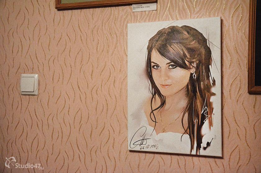 Печать портрета на холсте