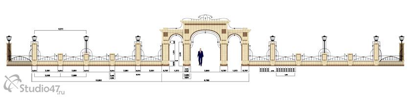 Входная арка в сквер
