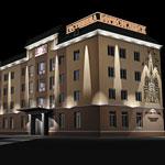 Архитектурная подсветка фасадов гостиницы