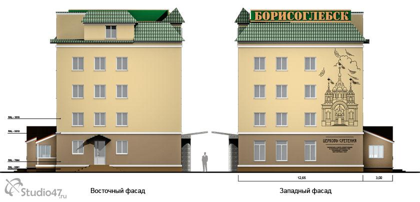 Фасады гостиницы Борисоглебск