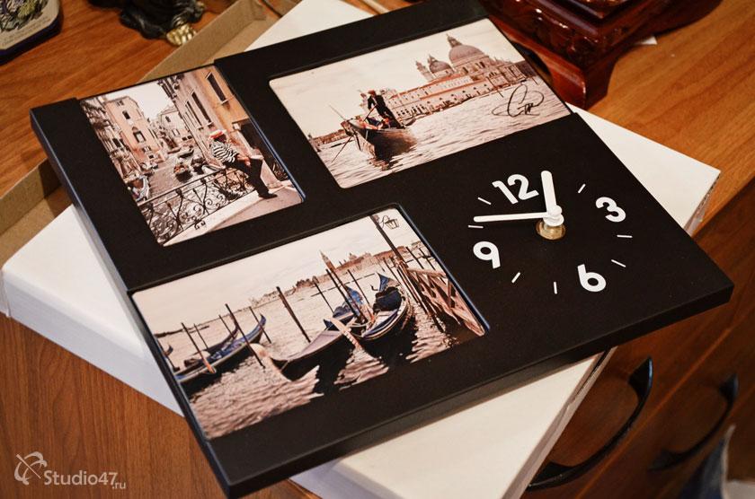 Часы с рамками для фотографий