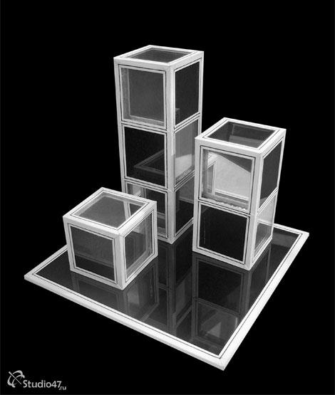 Композиция Шахматы из стекла