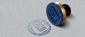 Макет оттиска печати