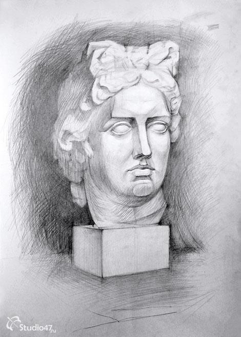 Аполлон рисунок