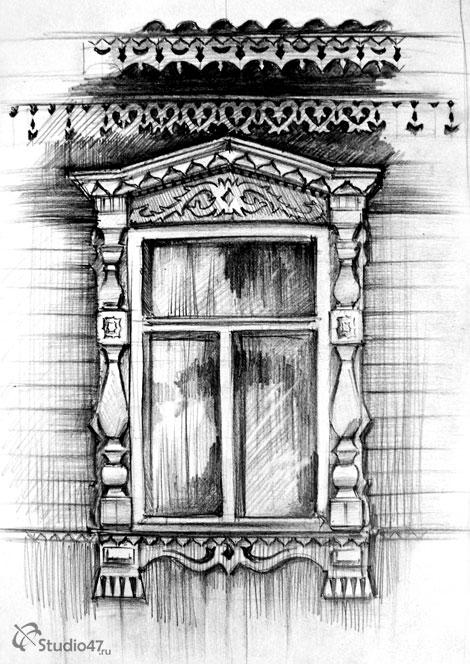 Окно с наличником