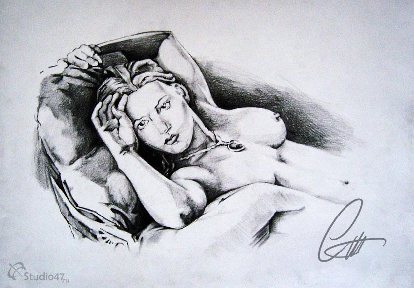 Роза Доусон рисунок из Титаника